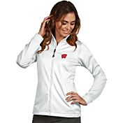 Antigua Women's Wisconsin Badgers White Performance Golf Jacket