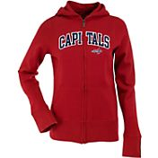 Antigua Women's Washington Capitals Dark Red Signature Full-Zip Fleece Hoodie