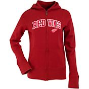 Antigua Women's Detroit Red Wings Dark Red Signature Full-Zip Fleece Hoodie