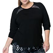 Rainbeau Curves Women's Plus Size Janelle Three Quarter Length Sleeve Shirt