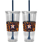 Boelter Houston Astros Bold Sleeved 22oz Straw Tumbler 2-Pack