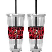 Boelter Tampa Bay Buccaneers Bold Sleeved 22oz Straw Tumbler 2-Pack