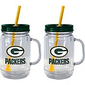 Boelter Green Bay Packers 20oz Handled Straw Tumbler 2-Pack