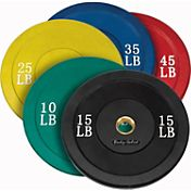 Body Solid 260 lb Color Olympic Bumper Set