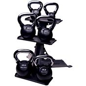 Body Solid 105 lb Kettlebell Set with Rack