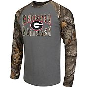 Colosseum Athletics Men's Georgia Bulldogs Grey/Camo Break Action Long Sleeve Shirt