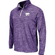 Colosseum Athletics Men's Kansas State Wildcats Purple Action Pass Quarter-Zip