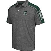 Chiliwear Men's Michigan State Spartans Grey Birdie Polo
