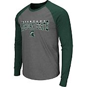 Colosseum Men's Michigan State Spartans Grey Olympus Long Sleeve Shirt