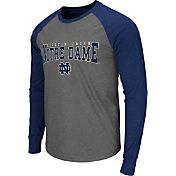 Colosseum Men's Notre Dame Fighting Irish Grey Olympus Long Sleeve Shirt