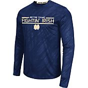 Colosseum Athletics Men's Notre Dame Fighting Irish Navy Sleet Long Sleeve Performance Shirt