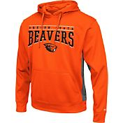Colosseum Athletics Men's Oregon State Beavers Orange Defend Pullover Fleece Hoodie