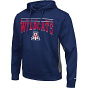 Colosseum Athletics Men's Arizona Wildcats Navy Defend Pullover Fleece Hoodie