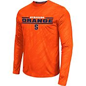 Colosseum Athletics Men's Syracuse Orange Sleet Long Sleeve Orange Performance Shirt