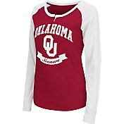 Colosseum Athletics Women's Oklahoma Sooners Crimson Healy Long Sleeve Shirt