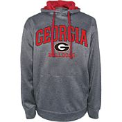 Champion Men's Georgia Bulldogs Grey Dominate 2 Hoodie