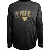 Champion Men's West Virginia Mountaineers Black Chrome Long Sleeve T-Shirt
