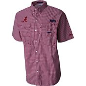 Columbia Men's Alabama Crimson Tide Gingham Checkered Super Bonehead Shirt