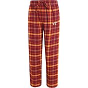 Concepts Sport Men's Virginia Tech Hokies Maroon/Burnt Orange Ultimate Plaid Sleep Pants
