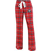 Concepts Sport Women's Georgia Bulldogs Red/Black Captivate Plaid Sleep Pants