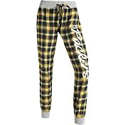 Concepts Sports Women's Green Bay Packers Green/Yellow Flannel Jogger Pants