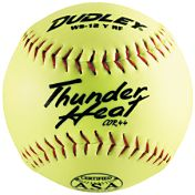"Dudley 12"" ASA Thunder Heat Synthetic Slow Pitch Softball"