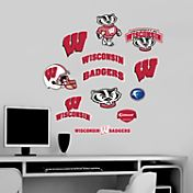 Fathead Wisconsin Badgers Team Logo Assortment Wall Graphic