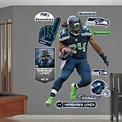 Fathead Marshawn Lynch #24 Seattle Seahawks Real Big Wall Graphic