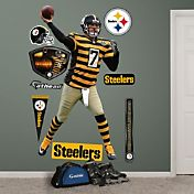 Fathead Ben Roethlisberger #7 Pittsburgh Steelers Throwback Real Big Wall Graphic