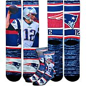 For Bare Feet Youth New England Patriots Tom Brady Rush Socks