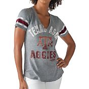 G-III For Her Women's Texas A&M Aggies Grey Any Sunday T-Shirt