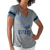 G-III for Her Women's Tennessee Titans Any Sunday Grey T-Shirt