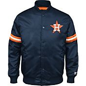 Starter Men's Houston Astros Navy Button Down Jacket