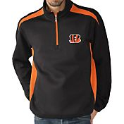 G-III Men's Cincinnati Bengals Hail Mary Half-Zip Black Pullover