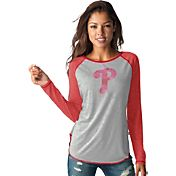 Touch by Alyssa Milano Women's Philadelphia Phillies Grey/RedLong Sleeve Shirt