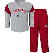 Gen2 Youth Ohio State Buckeyes Scarlet/Grey Mesh Charger Two-Piece Outfit