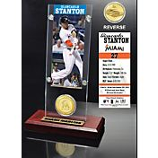 Highland Mint Gincarlo Stanton Miami Marlins Ticket and Bronze Coin Acrylic Desktop Display