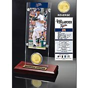 Highland Mint Justin Verlander Detroit Tigers Ticket and Bronze Coin Acrylic Desktop Display