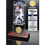 Highland Mint Miguel Cabrera Detroit Tigers Ticket and Bronze Coin Acrylic Desktop Display