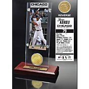 Highland Mint Jose Abreu Chicago White Sox Ticket and Bronze Coin Acrylic Desktop Display