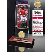 The Highland Mint St. Louis Cardinals Yadier Molina Acrylic Desktop Ticket and Minted Coin Display