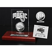 The Highland Mint Orlando Magic Silver Plated Medallion Etched Acrylic