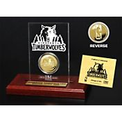 The Highland Mint Minnesota Timberwolves Gold Coin Etched Acrylic