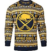 Klew Men's Buffalo Sabres Blue/Gold Ugly Sweater