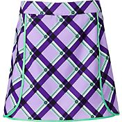Lady Hagen Aurora Collection Printed Plaid Skort