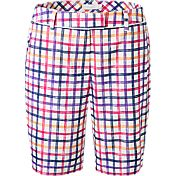 Lady Hagen Women's Sunset Collection Windowpane Bermuda Golf Shorts