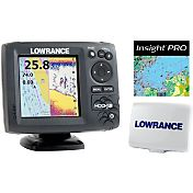 Lowrance Hook-5 GPS Fish Finder Combo with Lake Insight and Sun Cover