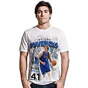 Levelwear Men's Dallas Mavericks Dirk Nowitzki Center Court White T-Shirt