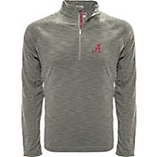 Levelwear Men's Alabama Crimson Tide Grey Mobility Long Sleeve Quarter-Zip Shirt