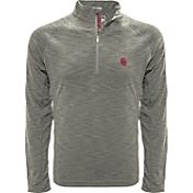 Levelwear Men's Nebraska Cornhuskers Grey Mobility Long Sleeve Quarter-Zip Shirt
